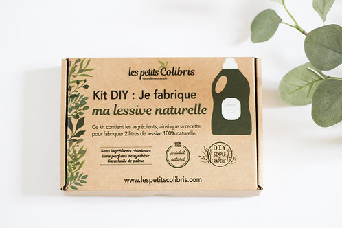 Coffret kit DIY fabrication de lessive naturelle