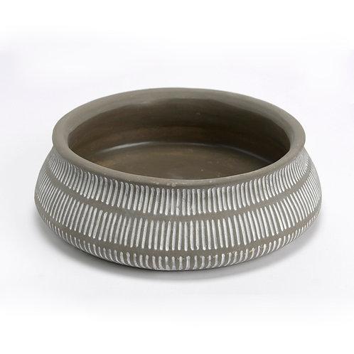 Pot présentation en ciment taupe