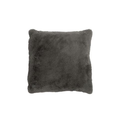 Coussin doux gris foncé 40x40 cm