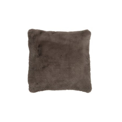 Coussin doux taupe 40x40 cm