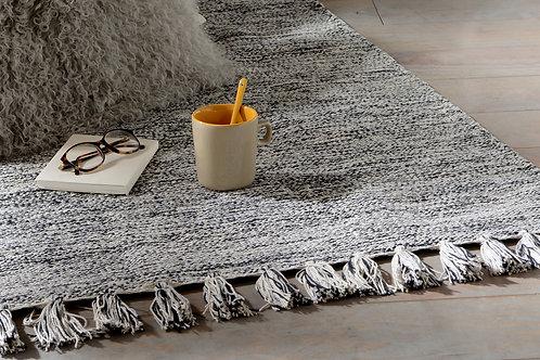 Tapis moucheté gris 100% coton 120x180 cm