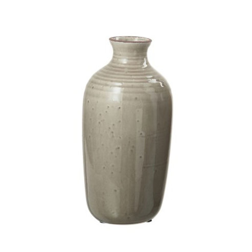 Grand vase en céramique taupe