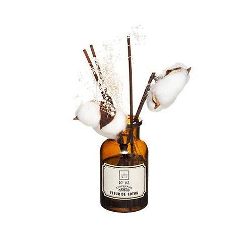 Diffuseur de parfum pot apothicaire fleurs séchées senteur Fleur de Coton