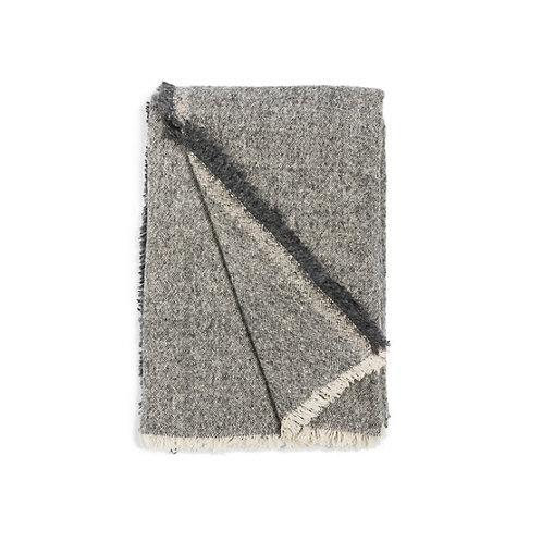 Plaid en mohair gris 130x170 cm