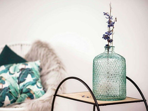 Vase dame jeanne en verre recyclé