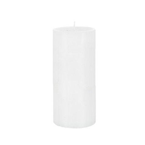 Bougie cylindrique blanche longue durée 72h