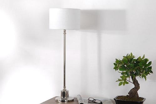 Lampe sur pied chromé avec abat-jour