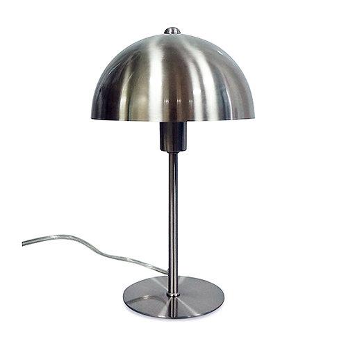 Lampe à poser en métal chromé forme champignon
