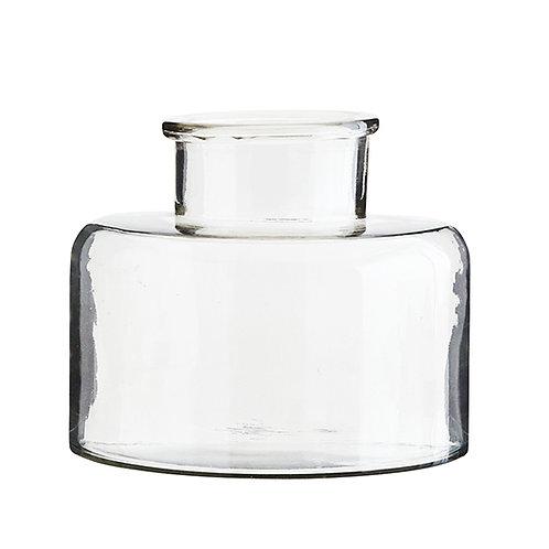 Grand vase bouteille dame jeanne en verre transparent