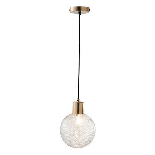 Suspension boule en verre or 20 cm