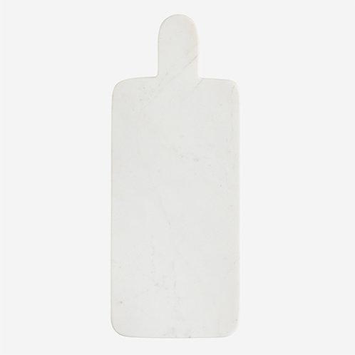 Planche rectangulaire à découper ou à présenter en marbre blanc