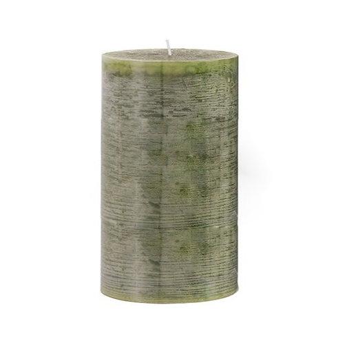 Bougie cylindrique verte longue durée 140h