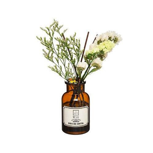 Diffuseur de parfum pot apothicaire fleurs séchées senteur Bois de santal