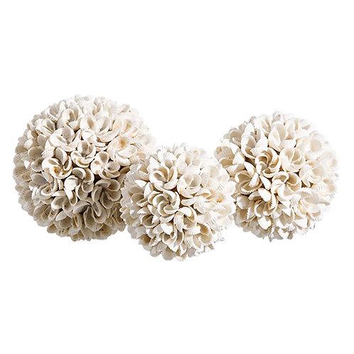 Boule de coquillages de Bali fleur taille M