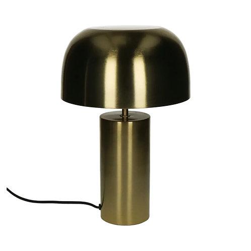 Lampe sur pied à poser en métal doré forme champignon