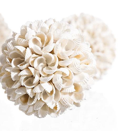 Boule de coquillages de Bali fleur taille L