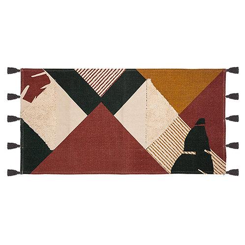 Tapis rectangulaire imprimé coloré textures 70x140 cm