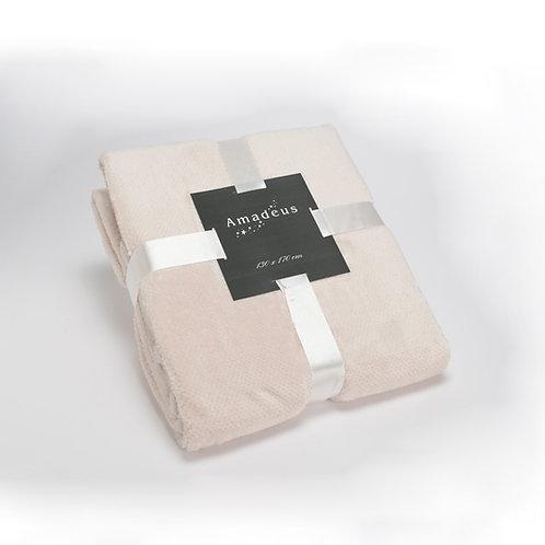 Plaid pilou crème 130x170 cm