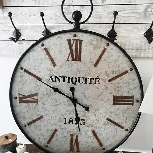 Horloge en métal antiquité 1875 100 cm