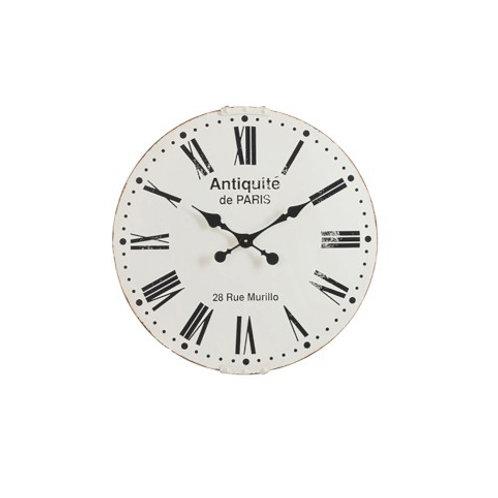 Horloge Antiquités de Paris en métal blanc 61 cm