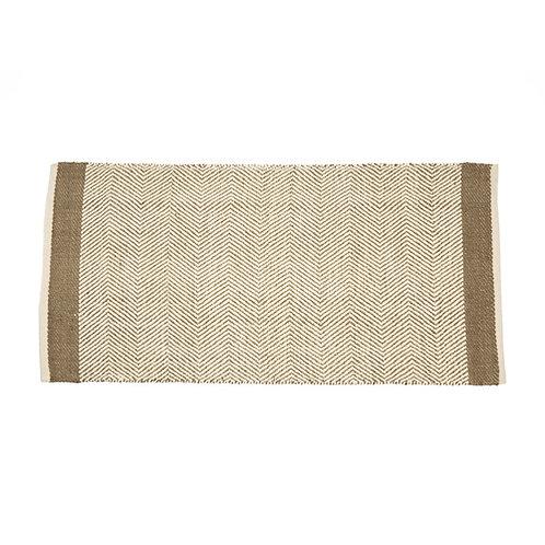 Tapis en coton et jute taupe 170x240 cm
