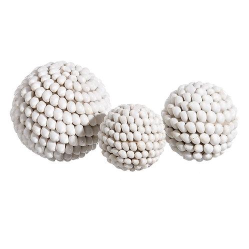 Boule de coquillages de Bali cauris taille M