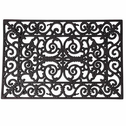 Tapis d'extérieur paillasson en caoutchouc noir 45x70 cm