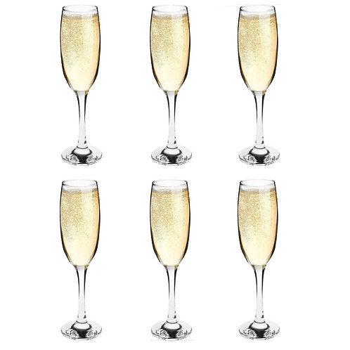 Classic Champagne Flute Glasses (Set of 6)
