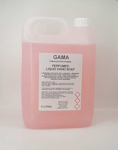 GAMA Pink Perlised Hand Soap- 5l