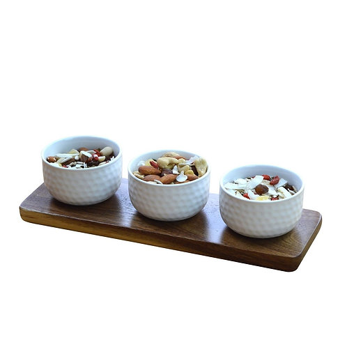 Tapas Bowls on a Wooden Board -Set of 6
