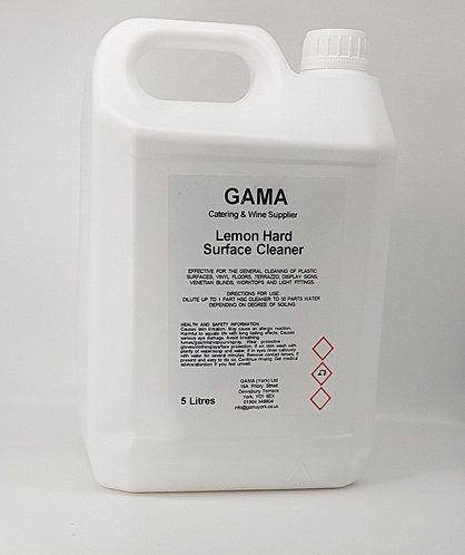 GAMA Thick Lemon Hard Surface Cleaner - 5l
