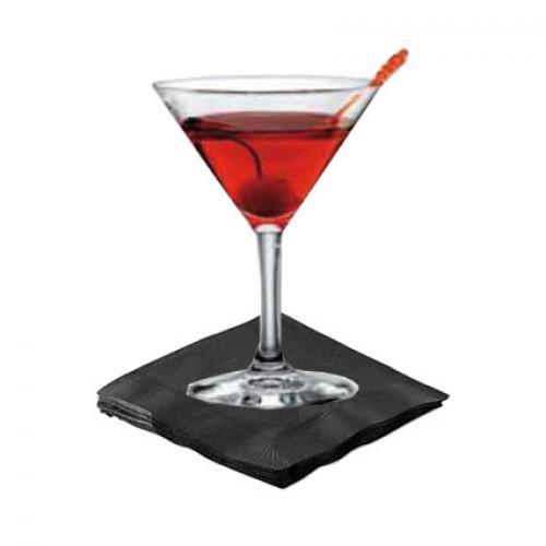 Black cocktail napkins