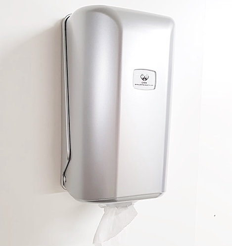 GAMA Mini Centre-feed Paper Towel Dispenser Silver