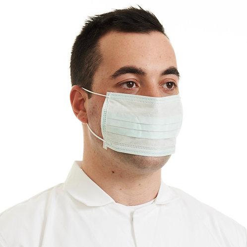 Face Masks Non-Woven Blue Tie-On 100