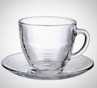 Duralex Gigogne Glass Cup and Saucer - 220ml - Pack of 24