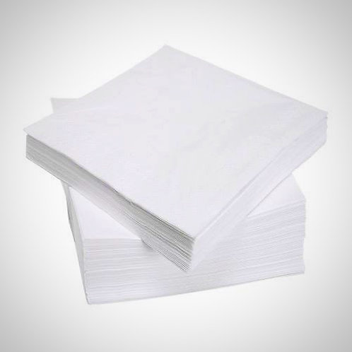 White Lunch Napkins 33cm, 2ply, pack of 2000