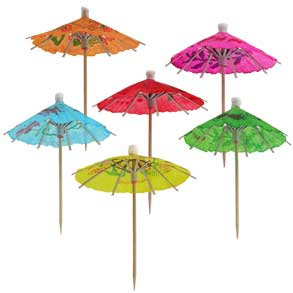 GAMA Cocktail Umbrella (Parasols) 144pk