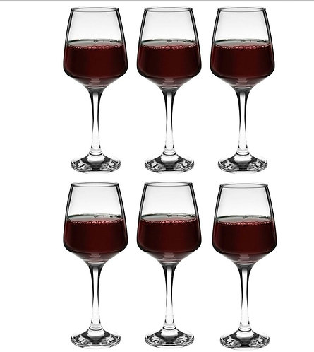 Milano red wine glasses 400ml set of 6