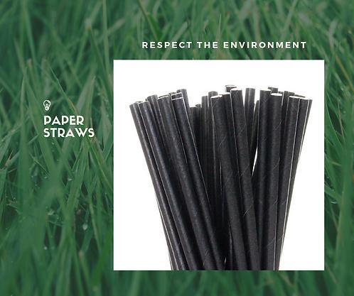Black Paper Straws 6mm (250)