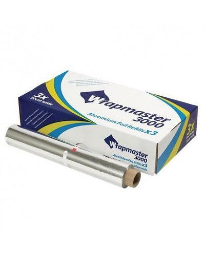 Wrapmaster 3000 Catering 30cm x 90m Aluminium 3 Foil Refills for Dispenser