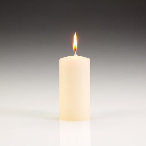 Ivory Pillar Candles 50x100mm (12)