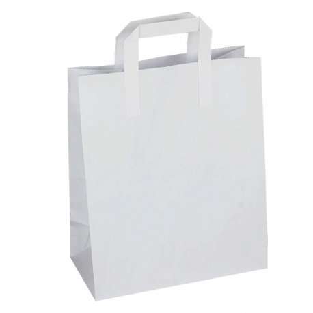 White Small  Carrier Bags