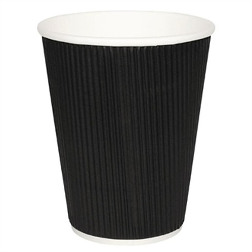 12oz Tall Ripple Cup (black) - Pack of 500