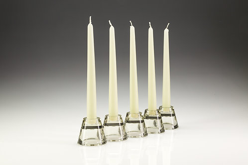 Glass Tapered Candle Holder 2-in-1