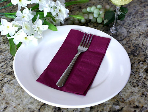 Burgundy 1/8 Napkins, 40X40cm, 2 ply, 1/8 fold- Pack of 2000
