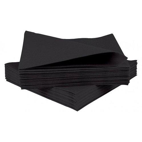 Black Napkins 2 plys, 1/4 Fold, Box of 125
