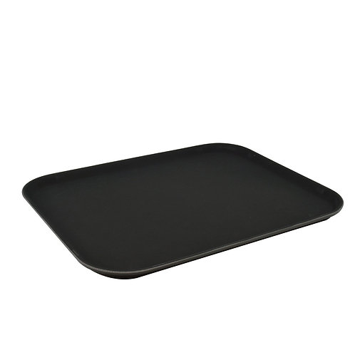 "Non Slip Tray Black 14""(45x35cm) - Set of 12"