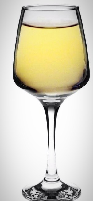 White Wine modern glass