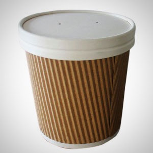 White Paper Lids for Kraft Soup Containers -16oz