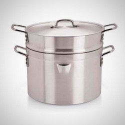 Double Boiler with Lid -9l